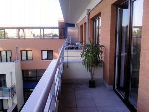 Balkon lub taras w obiekcie Apartament Justyna