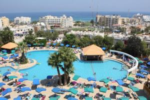 A view of the pool at Antigoni Hotel or nearby