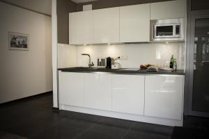 A kitchen or kitchenette at Exklusives Apartment 1A Rheinlage