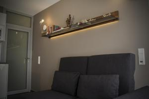 A seating area at Exklusives Apartment 1A Rheinlage