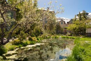 Jardín al aire libre en Hotel Apartamentos Trevenque