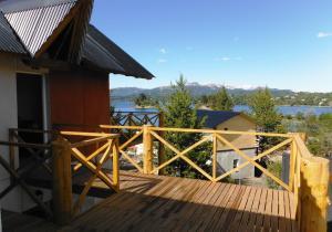 A balcony or terrace at Miralagos Apart & Cabañas