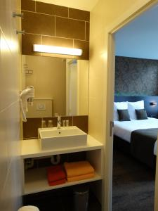 A bathroom at Hotel Kristoffel