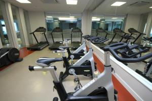 The fitness center and/or fitness facilities at Promenade Link Stay Barra da Tijuca