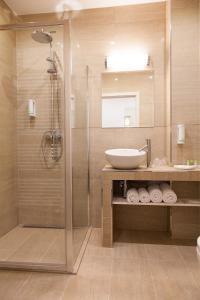Koupelna v ubytování Penzion Na Valech Hodonín