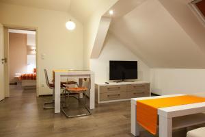 TV a/nebo společenská místnost v ubytování Penzion Na Valech Hodonín