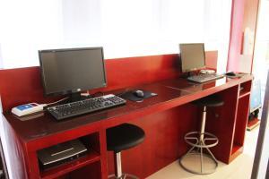 Телевизор и/или развлекательный центр в Hanting Express Yantai North Road