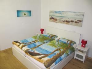 Cama o camas de una habitación en Beach Suite Playa Cala dor