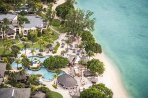 Een luchtfoto van Hilton Mauritius Resort & Spa