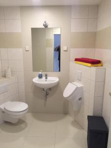 Ein Badezimmer in der Unterkunft Gästezimmer Lindhardt