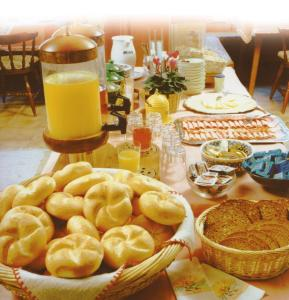 Breakfast options available to guests at Pension Wolf