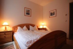 Postel nebo postele na pokoji v ubytování Appartement Alpenblick by Schladming-Appartements