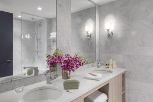 A bathroom at The Tillary Hotel Brooklyn