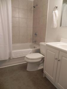 A bathroom at The Martin Arms