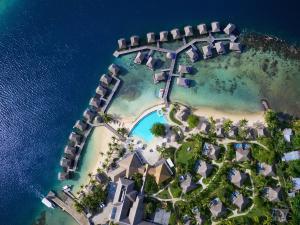 Uma vista aérea de Manava Beach Resort & Spa Moorea