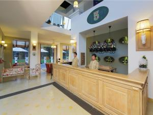 The lobby or reception area at Binh An Village Resort