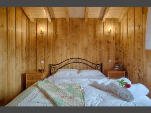 Uma cama ou camas num quarto em Casas Dos Barreiros