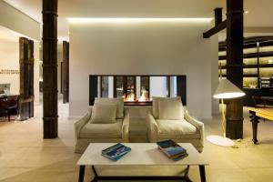 Uma área de estar em Hotel Altiplanico Bellas Artes