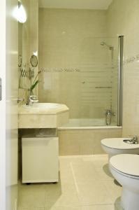 A bathroom at Un Patio en Santa Cruz