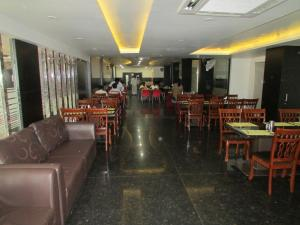 A restaurant or other place to eat at Sanu International
