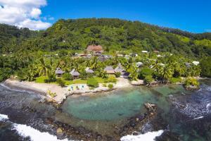 Uma vista aérea de Punatea Village