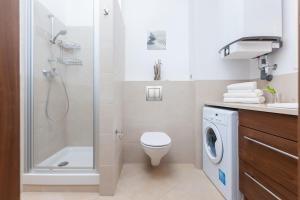 Łazienka w obiekcie Aquamarina Międzyzdroje