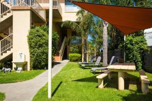 A garden outside Baywatch Apartments Merimbula
