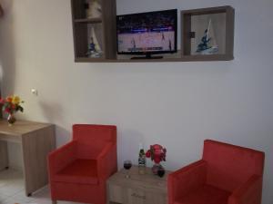 Area soggiorno di Stalaktites Studios