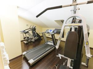 The fitness centre and/or fitness facilities at DORMERO Hotel Plauen