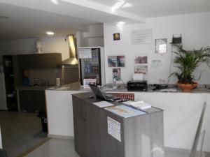 Una cocina o zona de cocina en Albergue @ Muxia