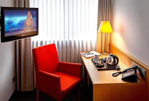 A television and/or entertainment center at Hotel Spenerhaus