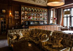The lounge or bar area at Bovey Castle