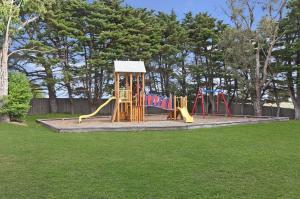 Children's play area at Gum Tree Caravan Park