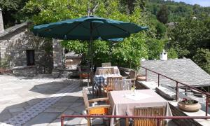 מסעדה או מקום אחר לאכול בו ב-Anovolios Boutique Hotel