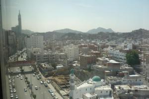 Uma vista aérea de Al Thill Hotel