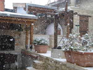 Xenios Cottages during the winter