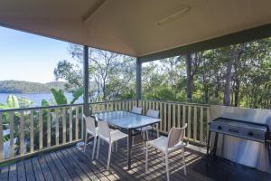 A balcony or terrace at Lake Monduran Holiday Park