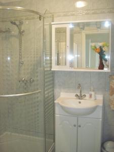 A bathroom at Fured Apartments