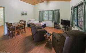 A seating area at Chambers Wildlife Rainforest Lodges