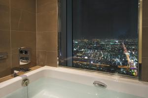 A bathroom at Osaka Marriott Miyako Hotel