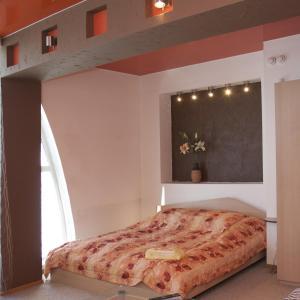 Кровать или кровати в номере Гостиница Турист