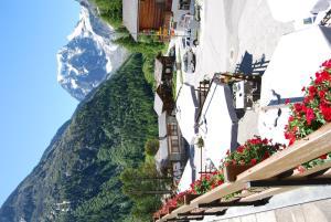 Vue générale sur la montagne ou vue sur la montagne depuis l'auberge