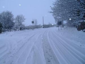 Penrhadw Farm during the winter