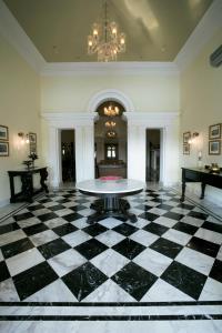 The lobby or reception area at Taj Nadesar Palace
