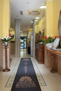 The lobby or reception area at The Best Hotel