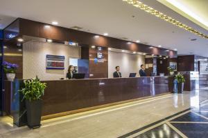 The lobby or reception area at Hamilton Hotel