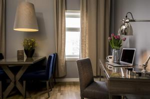 A seating area at Frogner House Apartments - Oscars gate 86