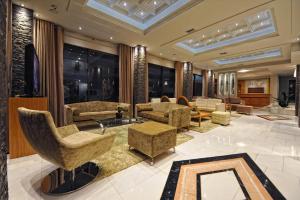 The lobby or reception area at Hotel Haikos