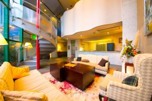 The lobby or reception area at Heiwadai Hotel 5