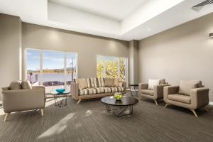 A seating area at Quest Albury on Townsend
